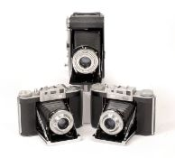 Two Agifold 120 CRF Folding Cameras & an Uncommon Baldalux for 6x9cm. (slow speeds slow/sticky on