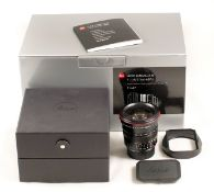 Black Leica Summilux M ASPH 21mm f1.4 Lens. (Leitz code 11647). #04301391. (condition 2/3E) With