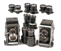 Mamiya C Series Cameras & Lenses for SPARES or REPAIR. To include C3 and C330 bodies, 2x65mm,