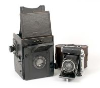 Certo Super-Sport Dual-Format Medium Format Rangefinder Camera. With Triplan 7.5cm f2.9 lens (CRF