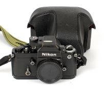 Black Nikon F2AS Photomic Body #7752900. Meter working. (slight wear to prism top, condition 5F).