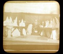 Rare Magic Lantern Slide of Ku Klux Klan Lodge Initiation Meeting. Exposure light, last image