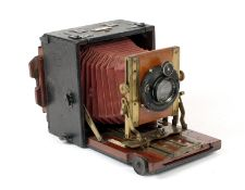 An Uncommon Gandolfi 'Universal' Quarter Plate Camera. Fitted with an Aldis-Butcher 5.5 inch f4.5