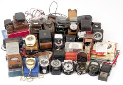 LARGE Quantity of Exposure Meters. To include models by Weston (plus spare domes), Sekonic, Gossen