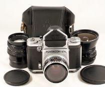 Pentacon Six Three-Lens Outfit. Comprising Pentacon Six camera body with CZJ Biotar 80mm f2.8