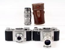 Two Early, Rare Asahiflex SLRs & Lenses.