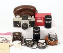 Alpa-Alnea Model 7 with Xenon 50mm f1.5 Lens. Body serial #30926 (condition 5/6F) correct lens cap