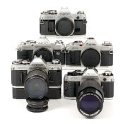 Canon A Series Cameras & Lenses. To include Canon AT-1, AV-1 & AL-1 QF bodies (all condition 5F),