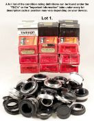A Large Quantity of Lens Mount Adapters. To include IC, Tamron Adaptall, T-Mounts etc. Various