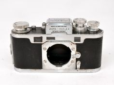 Chrome Alpa Reflex Body #13073. (film advance & body slightly rough, hence condition 6F).