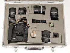 Extensive Nikon F3 Outfit. Comprising F3 body #1650641 with MD-4 Motor Drive (both condition 3/4E)