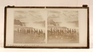 Glass Stereo View, Edward, Prince of Wales (later King Edward VII) at Niagara Falls, September