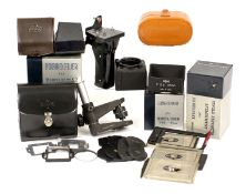Selection of Mamiya C Series Accessories. To include lens hood for 65mm in makers box, 180/250mm