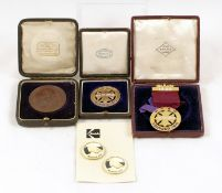 Small Selection of Medals etc of Photographic Interest. Comprising two limited edition Kodak badges,