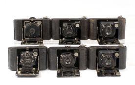 Six Compact ICA & Other Horizontal Drop-Front Folding Cameras. To include Alpha, Primus Rapid (