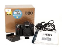 Nikon D80 DSLR Camera Body #8004711. (condition 5E) with battery, charger, card & manual in makers