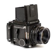Mamiya RB67 Medium Format Camera. With Mamiya Sekor 127mm f3.8 lens. (a few minor marks & dings