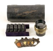 A Rare Busch Vademecum Lens Set No.11. Comprising lens with set of seven supplementary lenses,