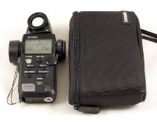 Sekonic L-758D Digital Flash & Ambient Exposure Meter. With case. (condition 4E).