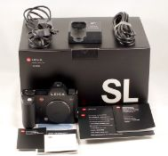 Leica SL Digital Camera Body, Type 601 (Leitz Code 10850). #04965352. With battery, charger,