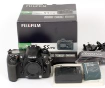 Fuji S5 Pro Digital SLR Camera Body. (condition 5E). With battery, charger, strap, instructions