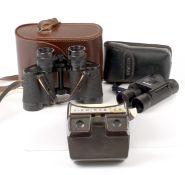 A Good Pair of CZJ Jenoptem 8x30W Binoculars. (condition 4/5E). Also a pair of compact Minolta