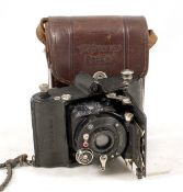 Voigtlander Perkeo Folding Camera - For Spares or Repair. With Skopar f4.5 5cm lens. ERC. (Damage to