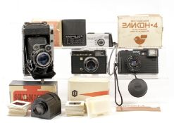 Moscow-5 (Super Ikonta Copy) & Other Soviet Cameras. To include Vega 2 (16mm sub-miniature), Yanka 3