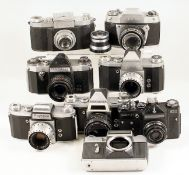 Interesting Group of Screw Mount & Other Vintage Cameras. To include Zenit E body, Zenit EM