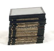 Twenty Magic Lantern Slides, Gent's Clock Mechanisms, Steam Trains etc. To include photographs and