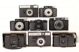 A Good Group of Eight LOMO & Other Soviet Compacts. Comprising 3x Lomo LC-A; 2x Cosmic Symbol;