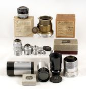 Collection of Cooke & Taylor Hobson Lenses. To include Cooke Telekinic 8 1/2 inch f5.6 lens; TH 2