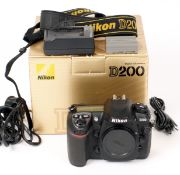 Nikon D200 Digital Camera Body #8013966. (condition 5E). With battery, charger, strap,