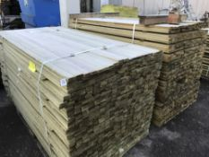 2 X PALLETS OF 5CM X 1.5CM X 1.83M LENGTH TIMBER FENCING SLATS