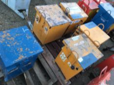 PALLET OF 5 X SITE TRANSFORMERS, UNTESTED