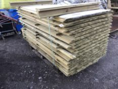 PALLET OF MACHINED TRIANGLE PROFILE TIMBERS 7.5CM WIDTH, 1.78M LENGTH