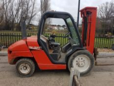 MANITOU MSI 30D DIESEL FORKLIFT TRUCK WITH TRIPLE 3 STAGE MAST, PART CAB, TOYOTA ENGINE LOT