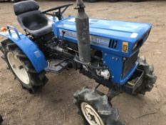 ISEKI TX1500 4WD COMPACT TRACTOR SN:004828 WITH REAR LINKAGE. WHEN TESTED WAS SEEN TO DRIVE, STEER