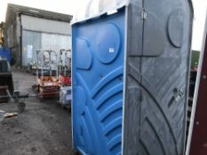 BLUE COLOURED PORTABLE SITE TOILET
