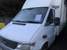 MERCEDES LUTON BODIED VAN C/W TAIL LIFT REG:V460 EUY, TEST TO AUG.2019 NO VAT ON HAMMER PRICE WHEN