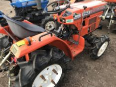 HINOMOTO C144 4WD COMPACT TRACTOR WITH REAR LINKAGE. WHEN TESTED WAS SEEN TO DRIVE, STEER AND BRAKE