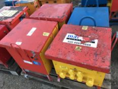 PALLET OF 4 X SITE TRANSFORMERS, UNTESTED