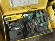 REMS BATTERY POWERED CRIMPER AND ASSOCIATED TOOLING AS SHOWN DIRECT FROM TRAINING SCHOOL