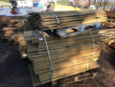3 X PALLETS OF SHIPLAP TIMBER 10CM WIDE MAINLY 1.7 METRES LONG, ONE PALLET OF 1.5M