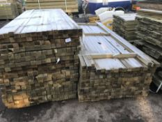 2 X LARGE PACKS OF 5CM X 6cM TIMBER POSTS @ 2.7M LENGTH