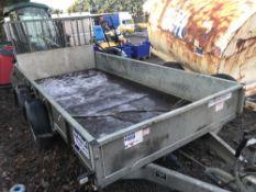 Ifor Williams twin axled plant trailer c/w rear ramp YEAR 2014 SN:SCKD00000E0651802