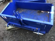 SPITFIRE 3-POINT LINKAGE MOUNTED TRANSPORT BOX, LITTLE USED