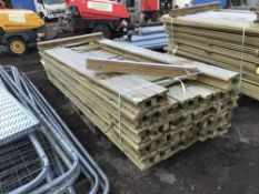 PACK OF H SECTION TIMBER FENCING POSTS 10CM SQUARE 2.7M LENGTH