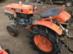 KUBOTA ZENOAH ZB7000E 2WD COMPACT TRACTOR WITH REAR LINKAGE. WHEN TESTED WAS SEEN TO DRIVE, STEER