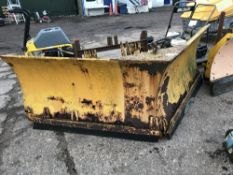 JCB TELEHANDLER MOUNTED V SNOW PLOUGH CIRCA 8FT WORKING WIDTH